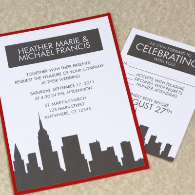New York City Destination Wedding Invitations
