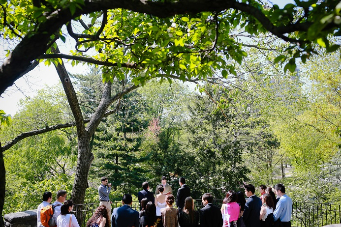A Spring Wedding In Shakespeare Garden Central Park