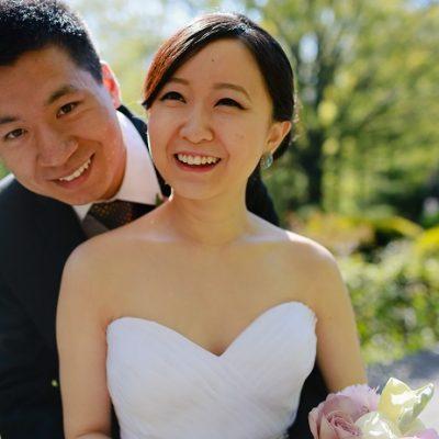 A Spring Central Park Wedding in Shakespeare Garden