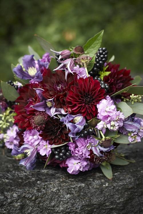 burgundy-purple-bridal-bouquet-fall