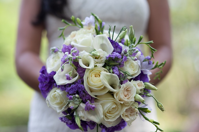 white-cream-purple-bridal-bouquet
