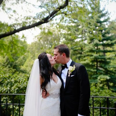 Summer Wedding in Central Park at Shakespeare Garden