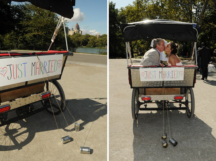 just-married-car-central-park