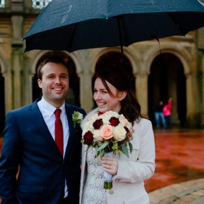 Winter Wedding in Central Park - Bethesda Fountain Terrace