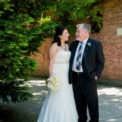 Spring Wedding at Wisteria Pergola, Conservatory Garden