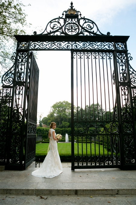Conservatory Garden Central Park Wedding Wisteria Pergola