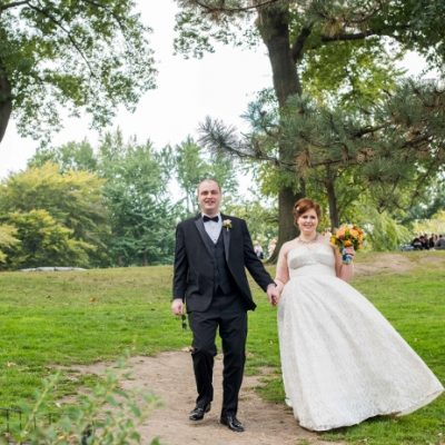 Late Summer Wedding on Cherry Hill, Central Park