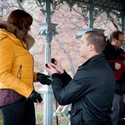 Surprise Proposal at Ladies Pavilion, Central Park
