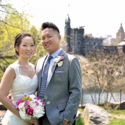 Spring Wedding at Shakespeare Garden, Central Park