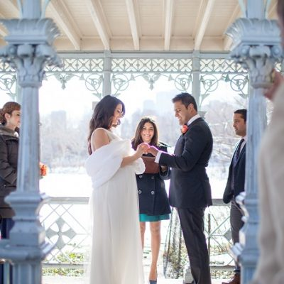 Winter Wedding at the Ladies Pavilion, Central Park