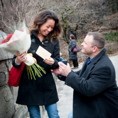 Surprise Proposal at Gapstow Bridge, Central Park