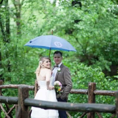 Rainy Day Wedding at the Ladies Pavilion