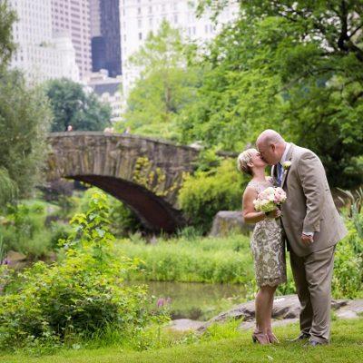 Summer Wedding in Shakespeare Garden, Central Park