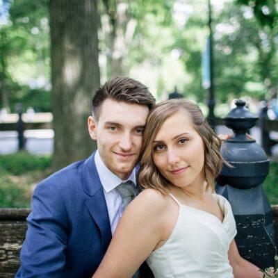 Intimate Central Park Wedding in Shakespeare Garden