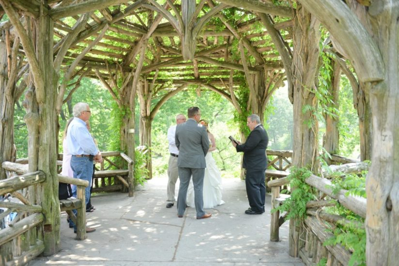 Central Park wedding ceremony at Dene Summerhouse