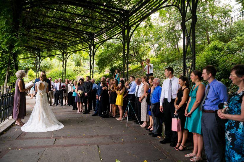 acentralparkwedding wisteria pergola 2 - Central Park Conservatory Garden