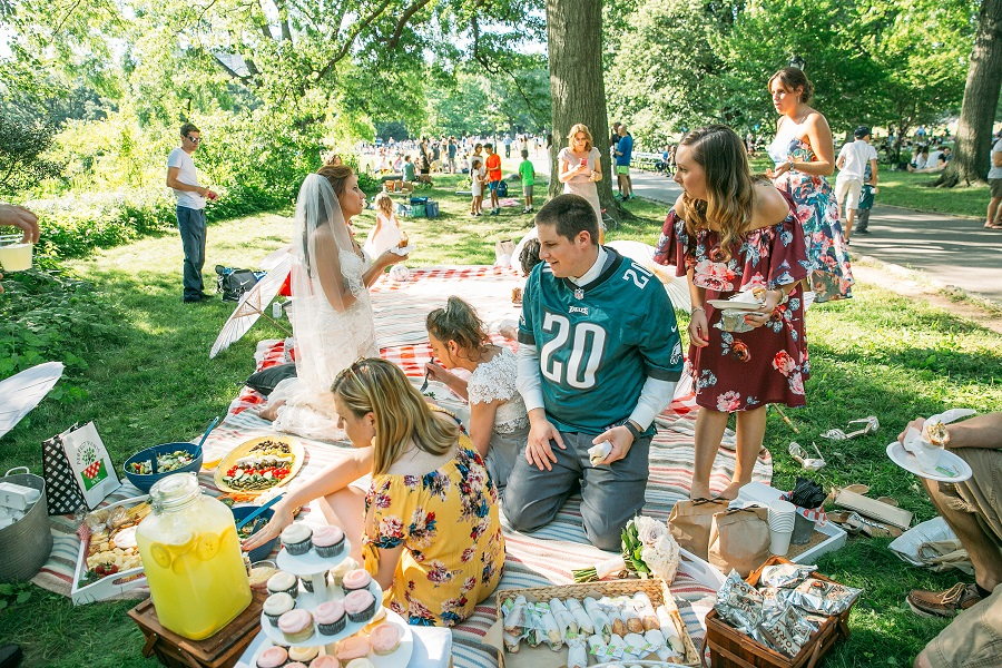 Picnic Wedding Reception by Turtle Pond Central Park